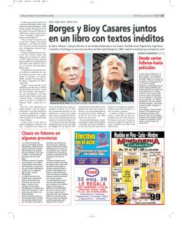Borges y Bioy Casares juntos en un libro con textos inéditos