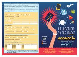 Descarga aquí el folleto informativo de la tarjeta