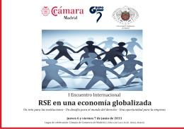Folleto I Encuentro Internacional RSE