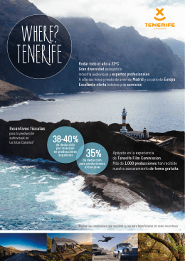 Folleto Tenerife Film Commission