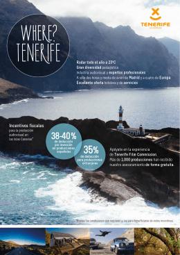 Folleto Tenerife Film Commission