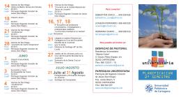 Folleto Pastoral Universitaria.indd