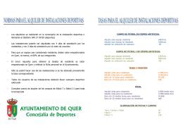Folleto de tasasx - Ayuntamiento de Quer