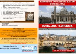 Folleto Italia - Parroquia de San Pascual Bailón