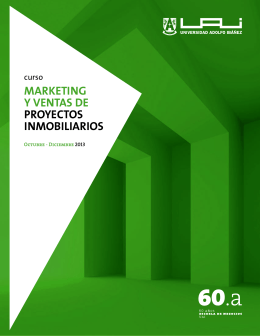 marketing y ventas de proyectos inmobiliarios