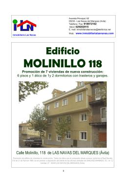 folleto MOLINILLO118 - Inmobiliaria Las Navas