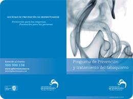 Programa de Prevención y tratamiento del tabaquismo