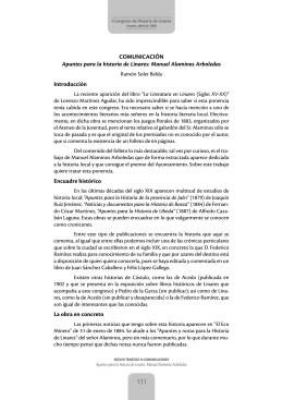 Apuntes para la historia de Linares: Manuel Alaminos Arboledas