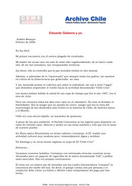 Eduardo Galeano y yo.
