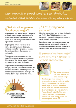 Being a parent can be tough brochure - Spanish