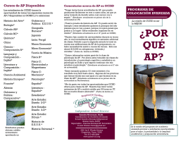 GCISD AP Brochure - Spanish - Grapevine