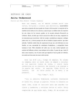 ESTUDIO DE CASO Anita Underwood