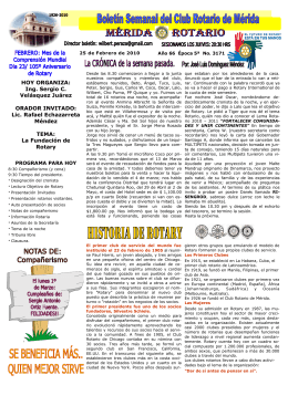 MÉRIDA ROTARIO - Rotary Club Sant Pol