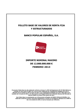 Folleto Base Valores de Renta Fija BPE 2013