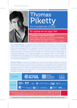 Folleto Thomas Piketty