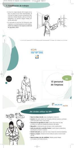 MAZ | Folleto 34 | El personal de limpieza
