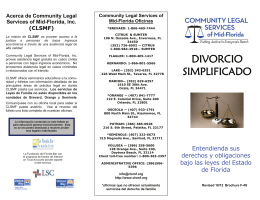 DIVORCIO SIMPLIFICADO - Community Legal Services of Mid Florida
