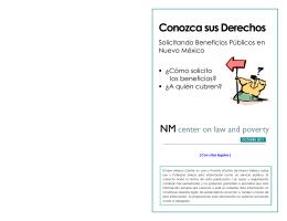 Conozca sus Derechos - New Mexico Center on Law and Poverty
