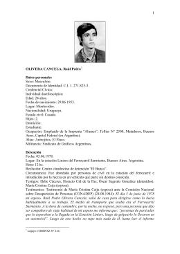 1 OLIVERA CANCELA, Raúl Pedro Datos personales Sexo