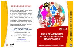 Folleto ATED 2014 - Universidad Miguel Hernández de Elche