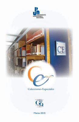 Folleto de Colecciones Especiales de la Biblioteca Gregorio Torres