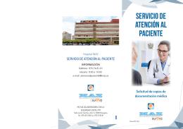 Folleto MAZ Servicio de Atención al Paciente