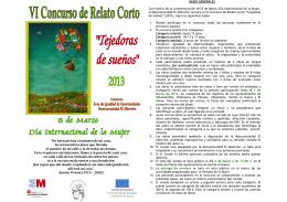 folleto bases Concurso Relato Corto 2013