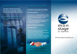 Descargue nuestro folleto - Mi pasantía en Argentina