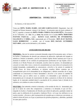 06.06.2013. Sentencia 82/2013 Caja España