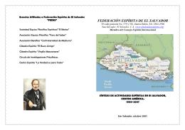 Síntesis de las actividades Espíritas en El Salvador2