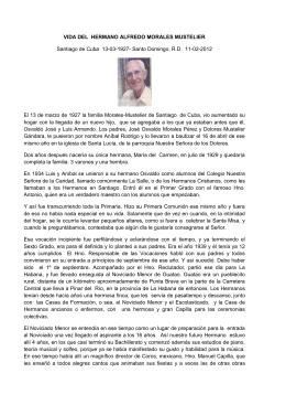 VIDA DEL HERMANO ALFREDO MORALES MUSTELIER