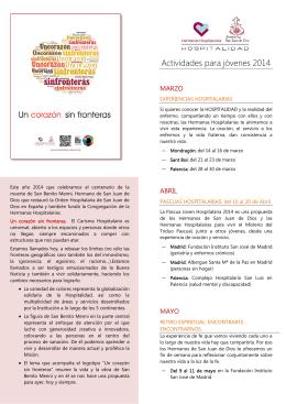 Descárgate aquí el folleto de actividades para este 2014