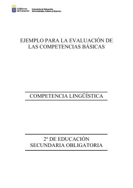 ejemplo para la evaluación de las competencias básicas