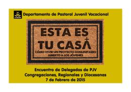 Encuentro de Delegados de PJV Congregaciones, Regionales y