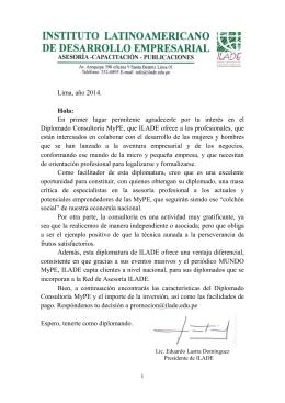 Diplomado Consultoría MyPE