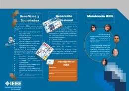 Un folleto de Membresía IEEE