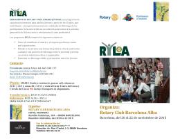 Folleto Ryla - Distrito 2202