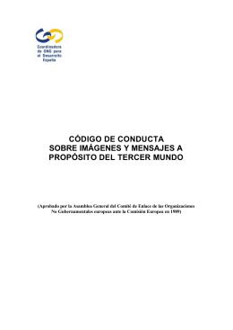 Código de Conducta sobre Imágenes y Mensajes a propósito del