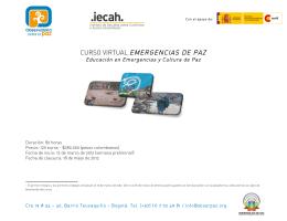 Folleto convocatoria 2da versión curso virtual Emergencias de Paz-2
