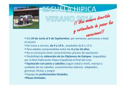 FOLLETO ESCUELA HIPICA VERANO 2014 [Modo de compatibilidad]