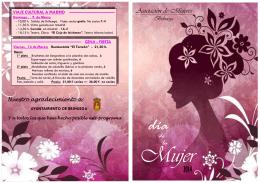 Folleto Semana Mujer 14 - La Comarca de Puertollano