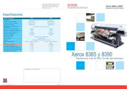 Folleto - Xerox 8365 y 8390 Impresoras de Gran Formato (PDF, 325