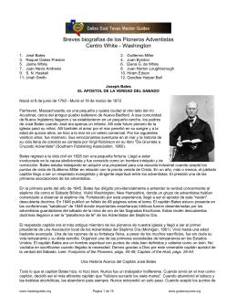 Biografía de los Pioneros Adventistas