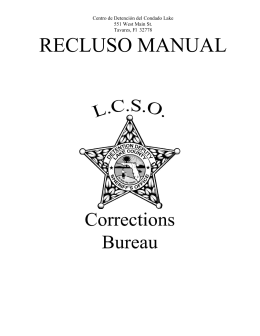 INMATE HANDBOOK - Lake County Sheriff`s Office