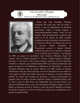 Luis González Obregón - Academia Mexicana de la Historia