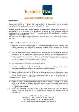 Diploma en Gestión Cultural