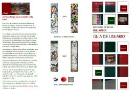 folleto biblioteca