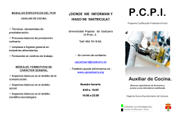 Folleto informativo pcpi