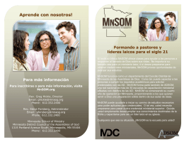 Aprende con nosotros! - Minnesota District Council of the