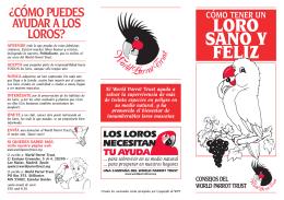 LORO SANO Y FELIZ - World Parrot Trust